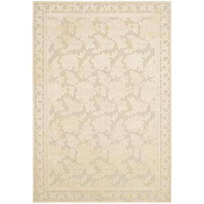 Peony Damask Cream 4 ft. x 5 ft. 7 in. Area Rug