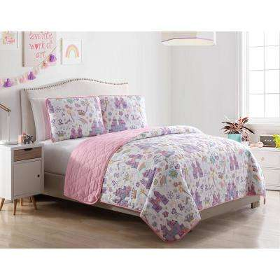 Morgan Home Unicorn Magic Castle Twin 2-Piece Quilt Set