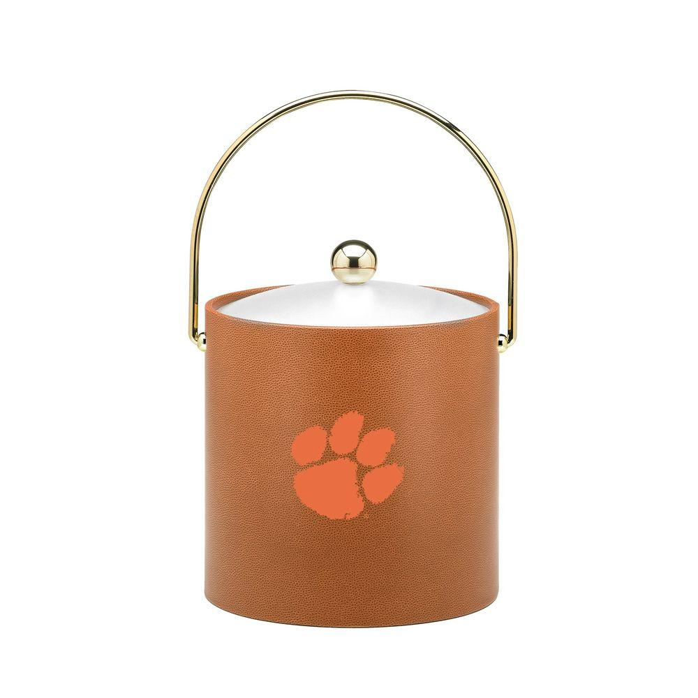 Kraftware Clemson 3 Qt. Basketball Texture Ice Bucket