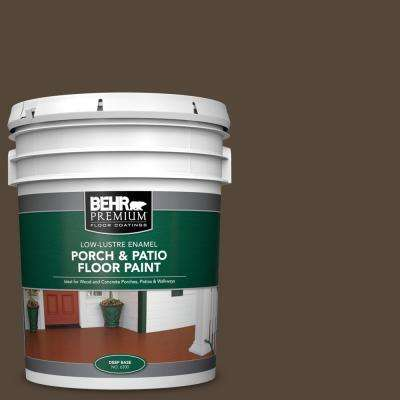 5 gal. #780B-7 Bison Brown Low-Lustre Enamel Interior/Exterior Porch and Patio Floor Paint