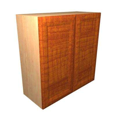 Dolomiti Ready to Assemble 36 x 30 x 12 in. Wall Cabinet with 2 Soft Close Doors in Cognac