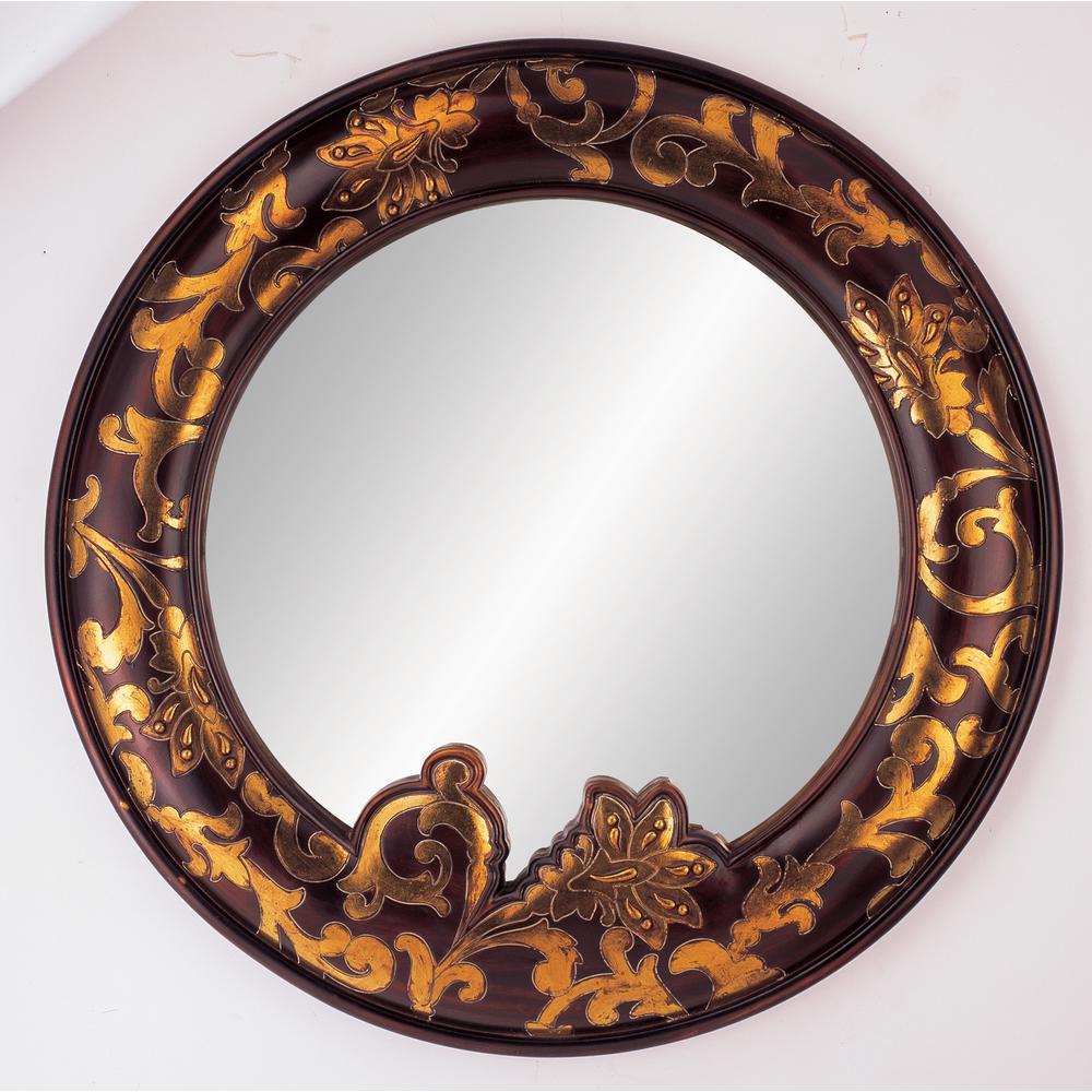 Arie Mahogany Decorative Mirror