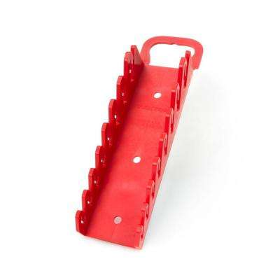 2.3 in. 8-Tool Store-and-Go Stubby Wrench Rack Keeper in Red