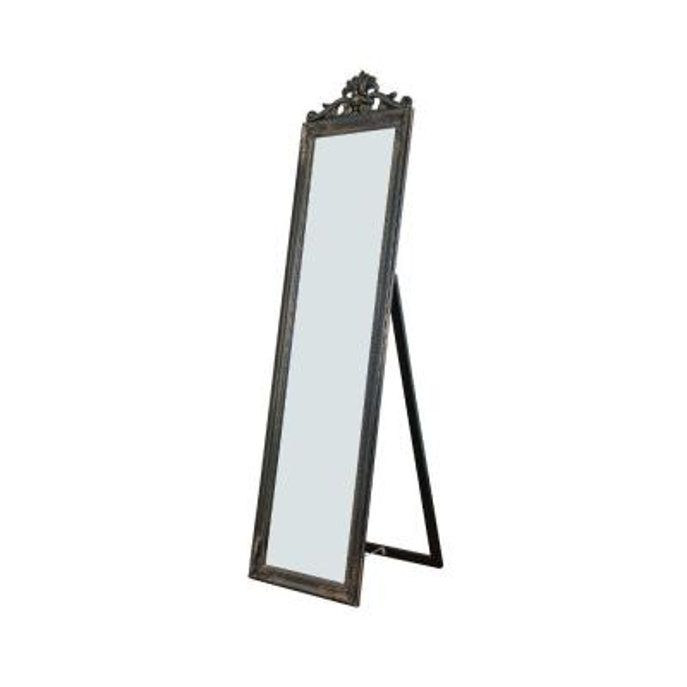 Oversized Copper Wood Modern Mirror (67 in. H X 1.9 in. W)