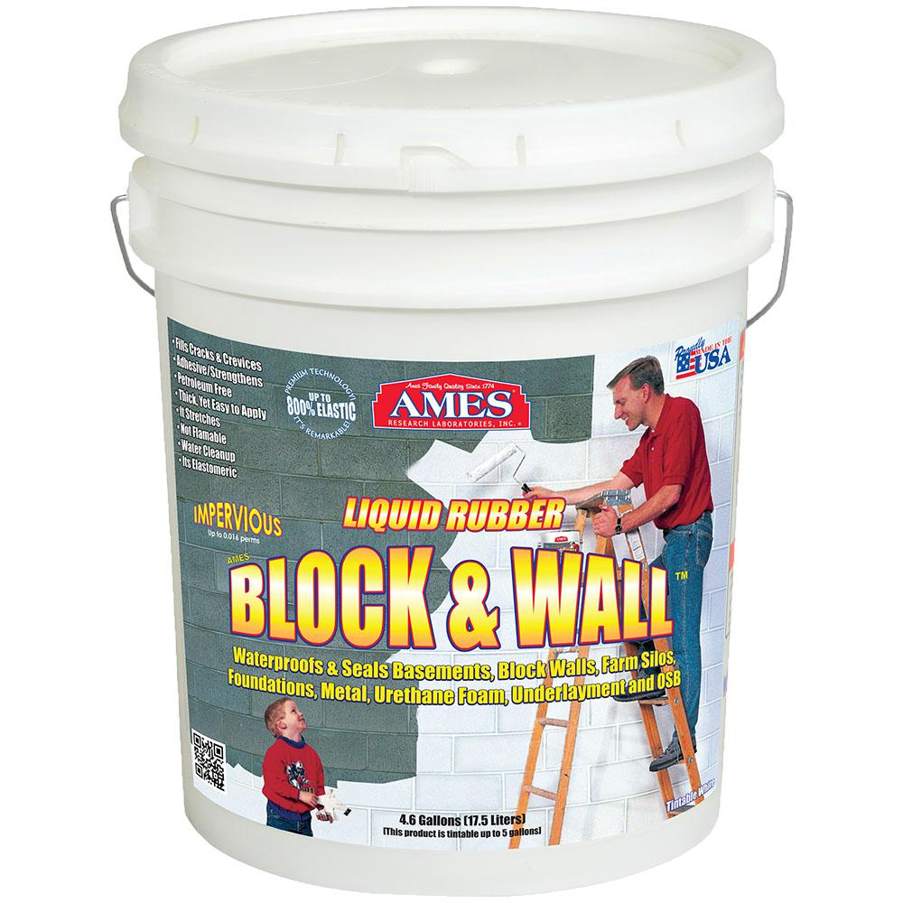 Ames Block And Wall 5 Gal. Liquid Rubber Waterproof