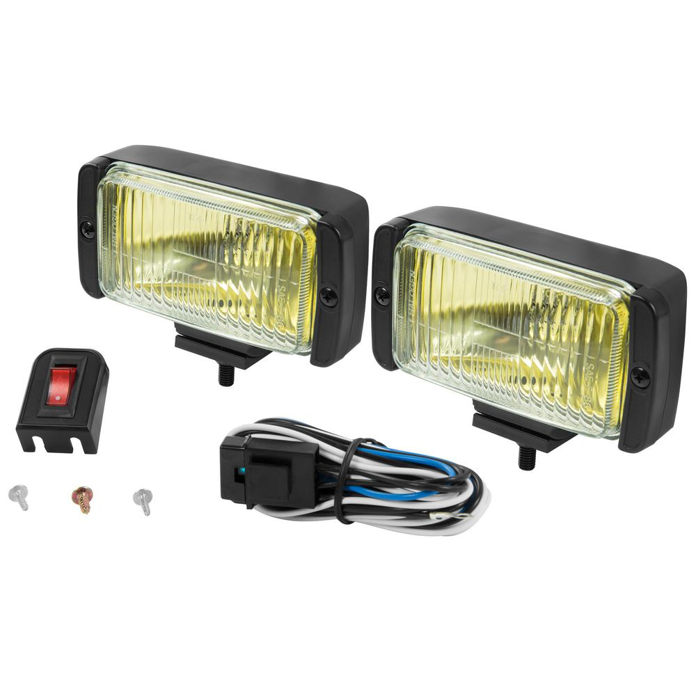 Towing Lights Equipment The Home Depot 4 Pin Trailer Wiring Diagram 02 Blazer All Weather Fog Light Kit