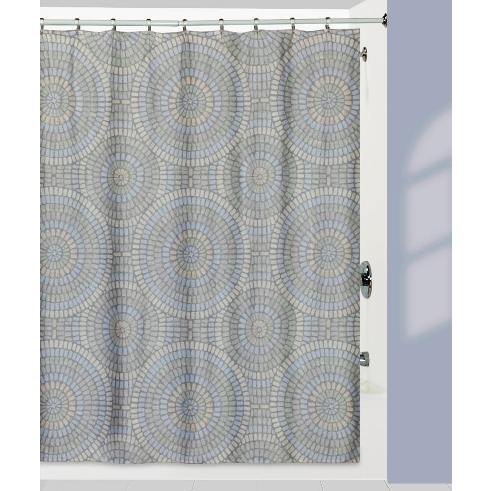Creative Bath Capri' Shower Curtain with Matching Bath Rug Made from 100% Cotton
