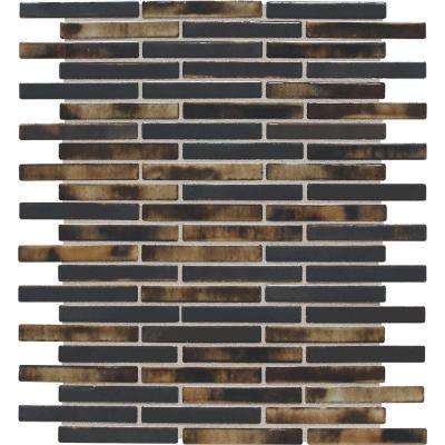 Fashion Accents Illumini Umber 12 in. x 12 in. x 8mm Random Porcelain Mosaic Wall Tile