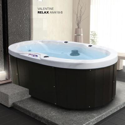 2-Person 18-Jet Premium Acrylic Valentine Spa Hot Tub with Waterfall and Handrail