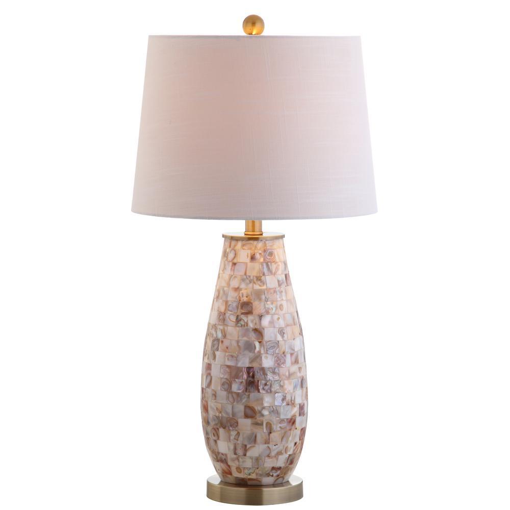 JONATHAN Y Jocelyn 28 in. Natural Seashell Table Lamp