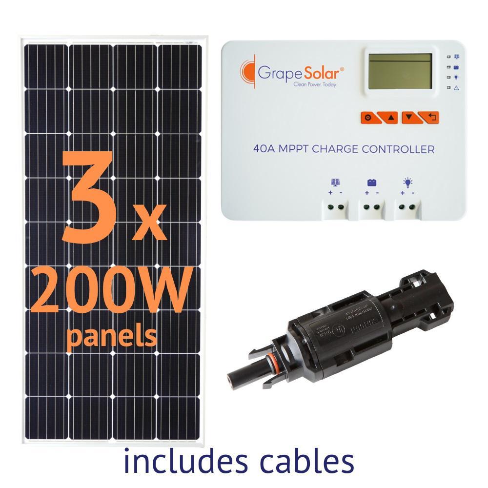600-Watt Off-Grid Solar Panel Kit