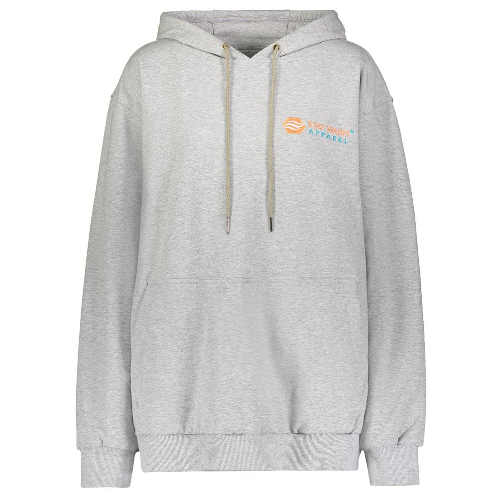 Stay Warm Apparel Small/Medium Gray Heated Hoodie with Rechargeable Battery