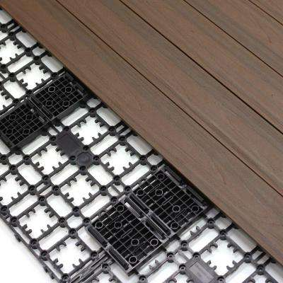 8.64 sq. ft. Deck-A-Floor Premium Modular Outdoor Composite Flooring System Kit in Spanish Walnut