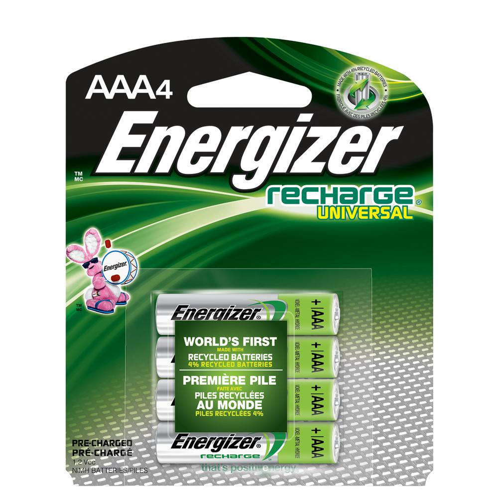 Energizer AAA4 1.2-Volt Rechargeable Universal Battery