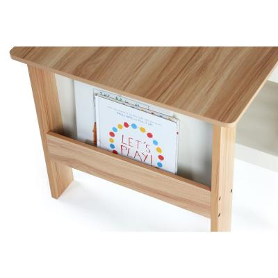 Tot Tutors Journey 3 Piece Naturalwhite Kids Bookrack Table
