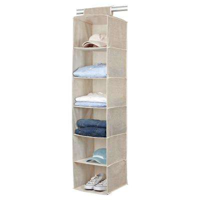 6-Shelf 17 in. Faux Jute Sweater Organizer