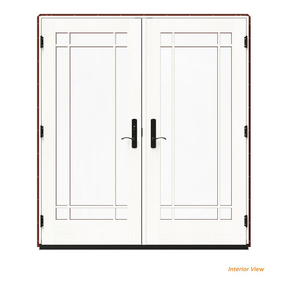 72 in. x 80 in. W-4500 Red Clad Wood Right-Hand 9