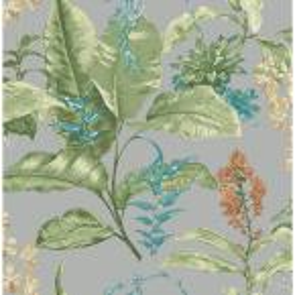 Kenneth James Maui Grey Botanical Wallpaper