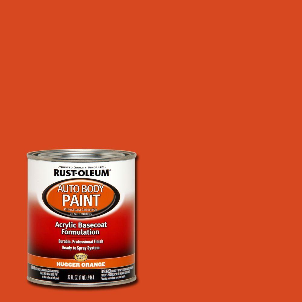 Rust Oleum Automotive 1 Qt Auto Body Hugger Orange Paint