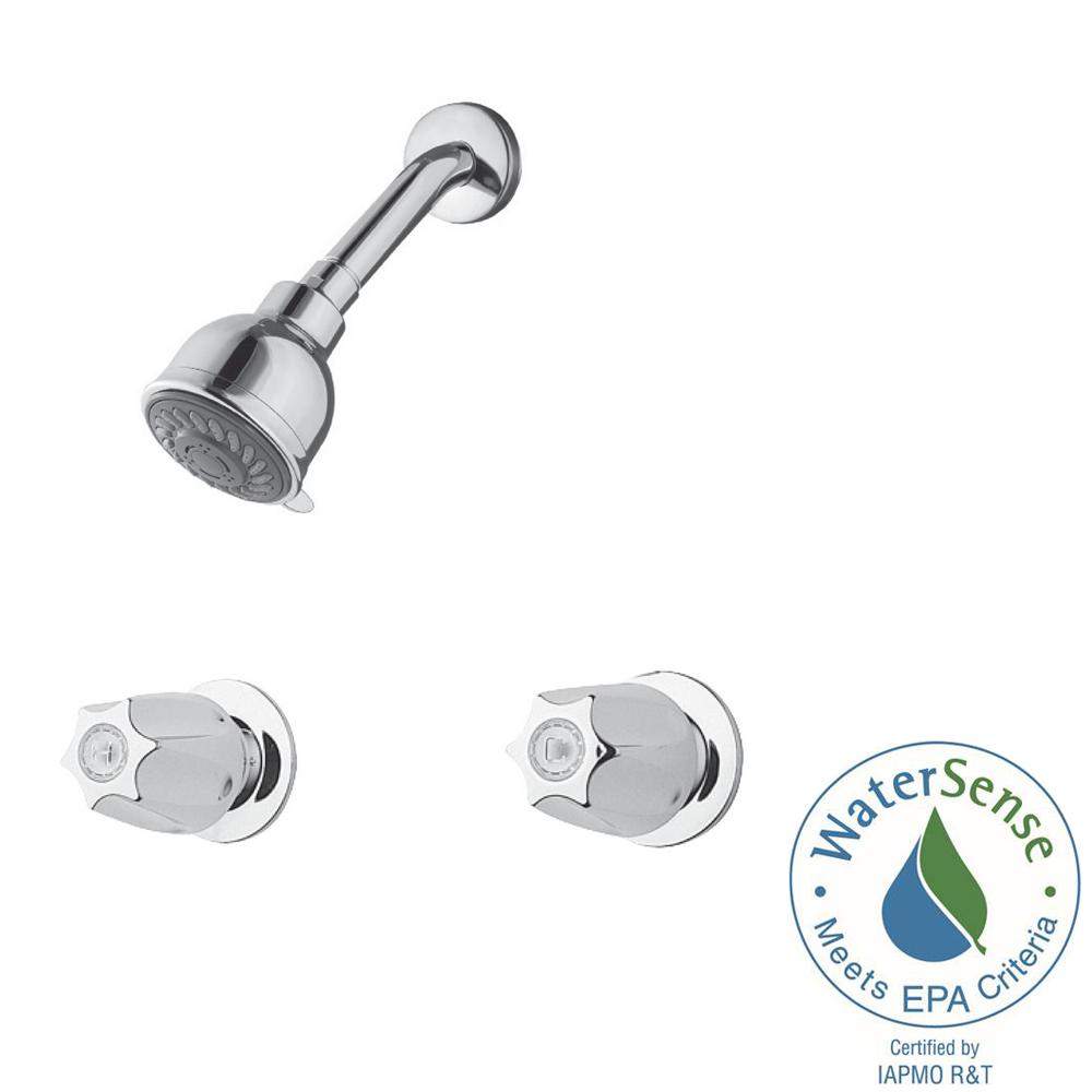 Pfister 2-Handle 3-Spray Shower Faucet in Polished Chrome (Valve ...