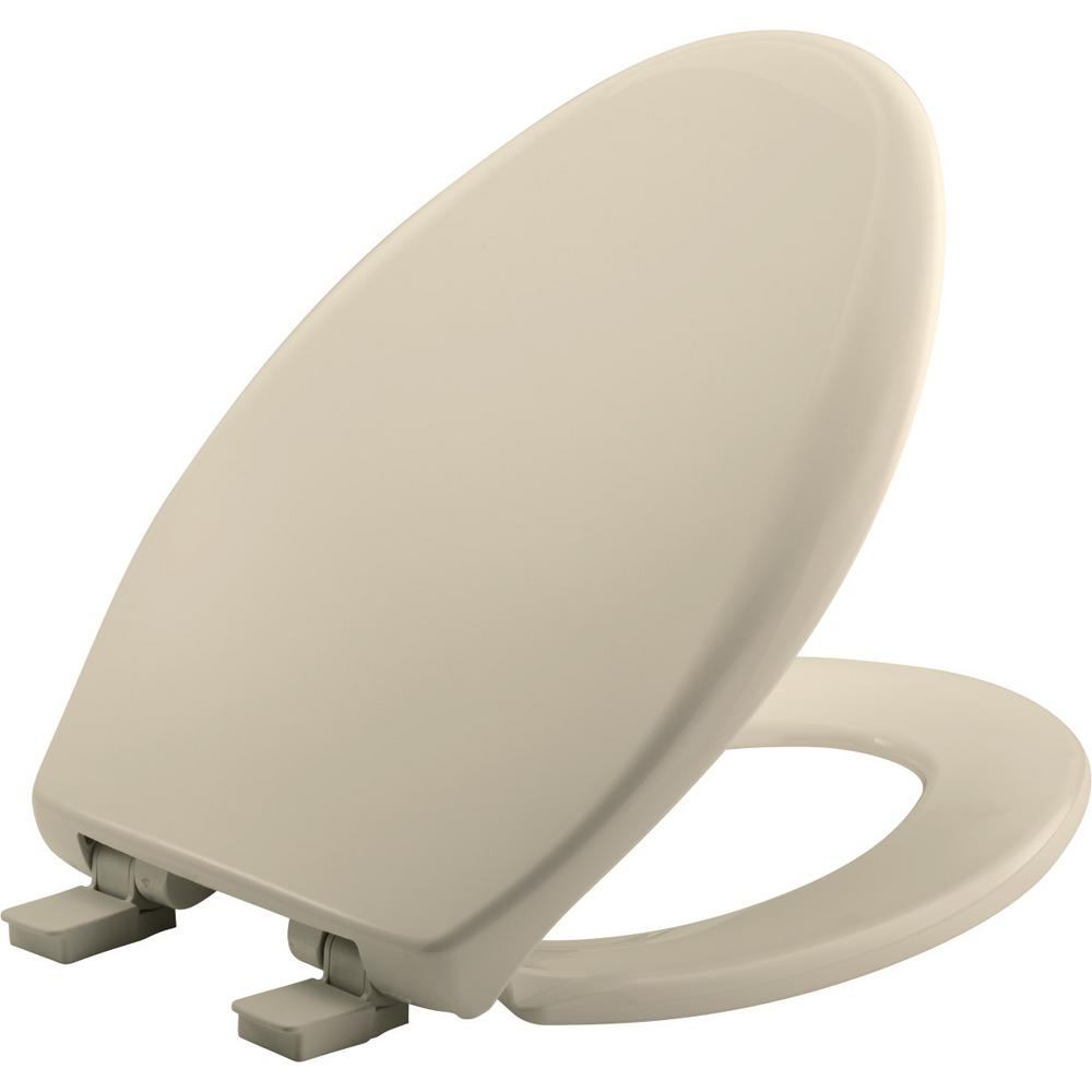 Surprising Church Affinity Elongated Closed Front Toilet Seat In Almond Inzonedesignstudio Interior Chair Design Inzonedesignstudiocom