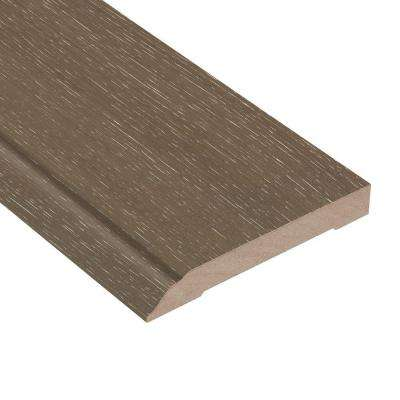 Wire Brushed Hickory Grey 1/2 in. Thick x 3-1/2 in. Wide x 94 in. Length Hardwood Wall Base Molding