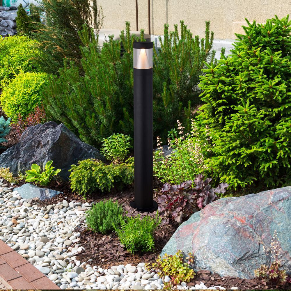 VONN Lighting 4-Watt Black Outdoor Integrated LED Bollard