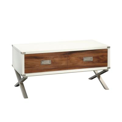 Vista Key 18 in. Pearl Oak with Blaze Acacia accents Lift-Top Coffee Table
