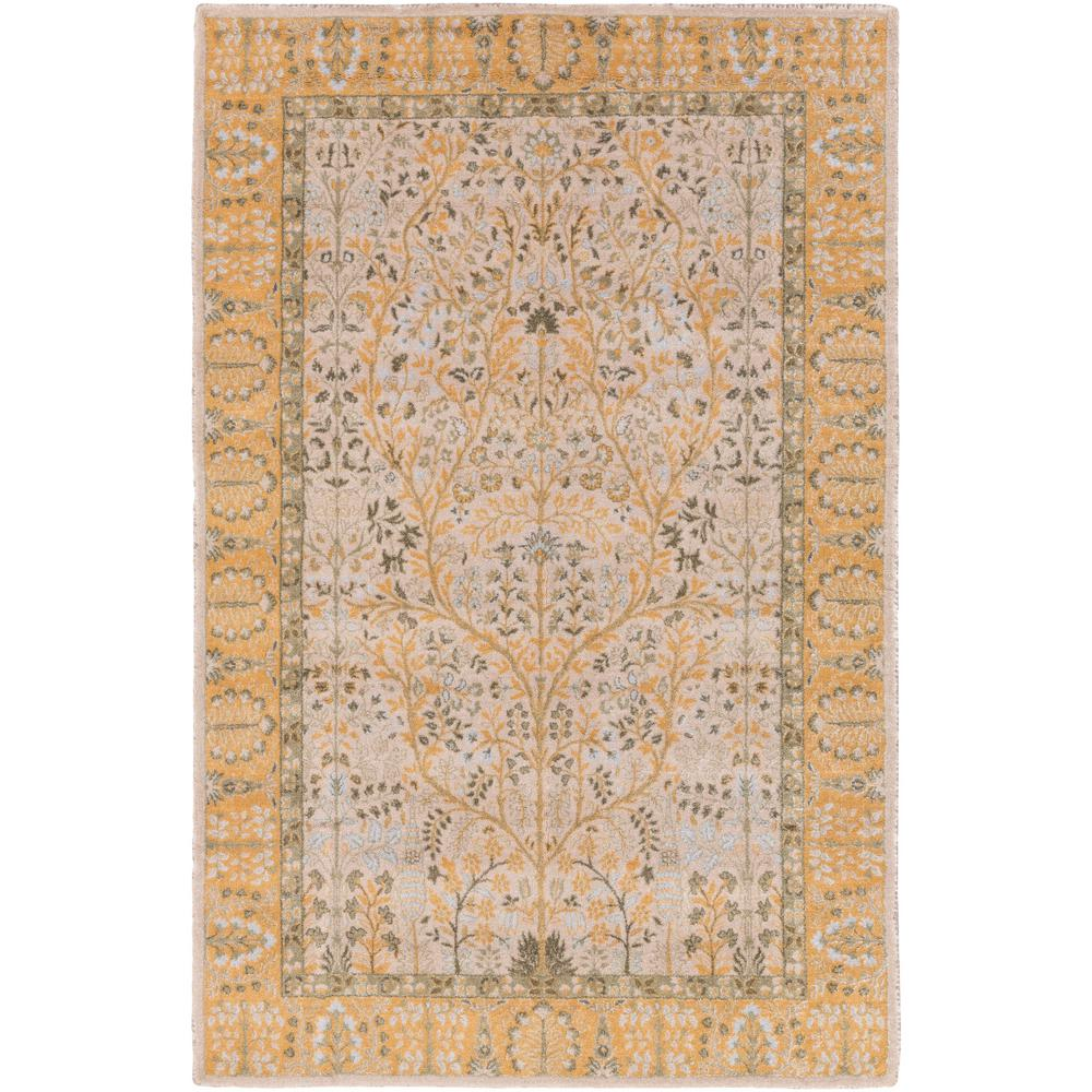 SURYA Kansai Fog Gray 8 ft. x 11 ft. Indoor Area Rug