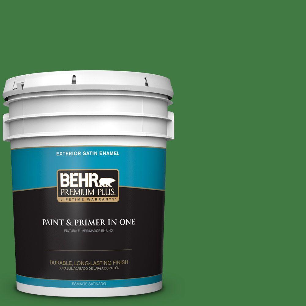 BEHR Premium Plus 5-gal. #M390-7 Hills of Ireland Satin Enamel Exterior Paint