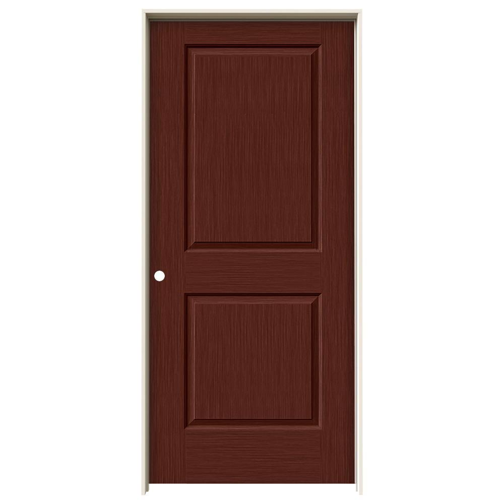 36 in. x 80 in. Cambridge Black Cherry Stain Right-Hand Solid