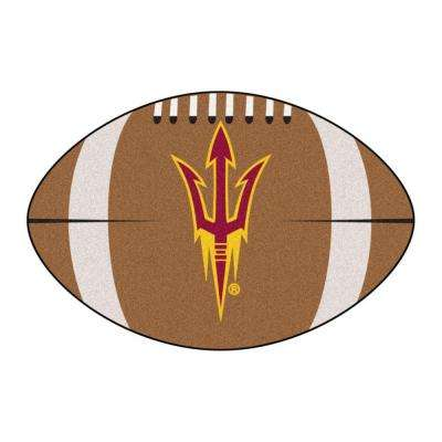 NCAA Arizona State University Pitchfork Logo Brown 1 ft. 10 in. x 2 ft. 11 in. Specialty Accent Rug
