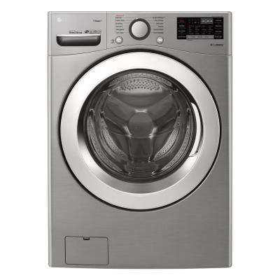 4.5 cu.ft. High Efficiency Large Smart Front Load Washer with Steam and Wi-Fi Enabled in Graphite Steel, ENERGY STAR