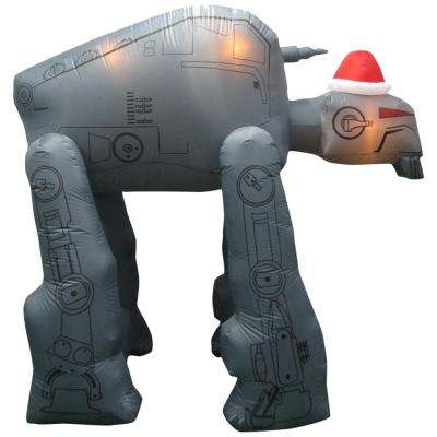8 ft w pre lit inflatable gorilla walker with santa hat airblown - Star Wars Christmas Decorations