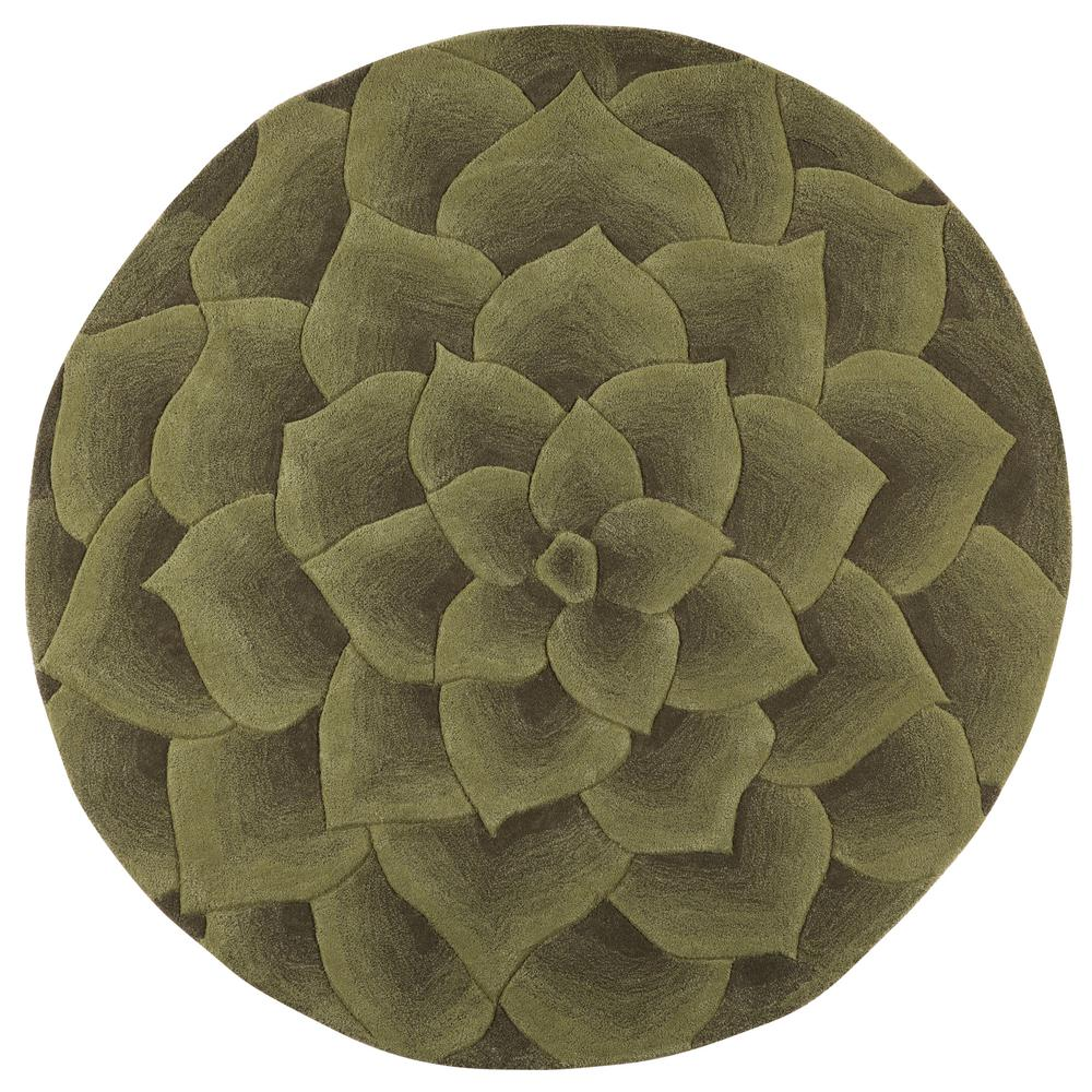 Home Decorators Collection Corolla Green 6 Ft X Round Area Rug