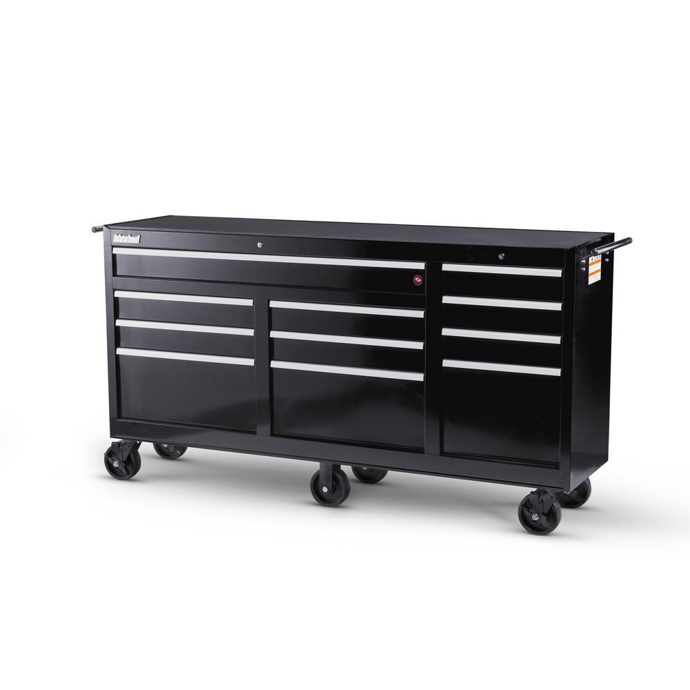 Workshop Series 73 in. 11-Drawer Cabinet, Black