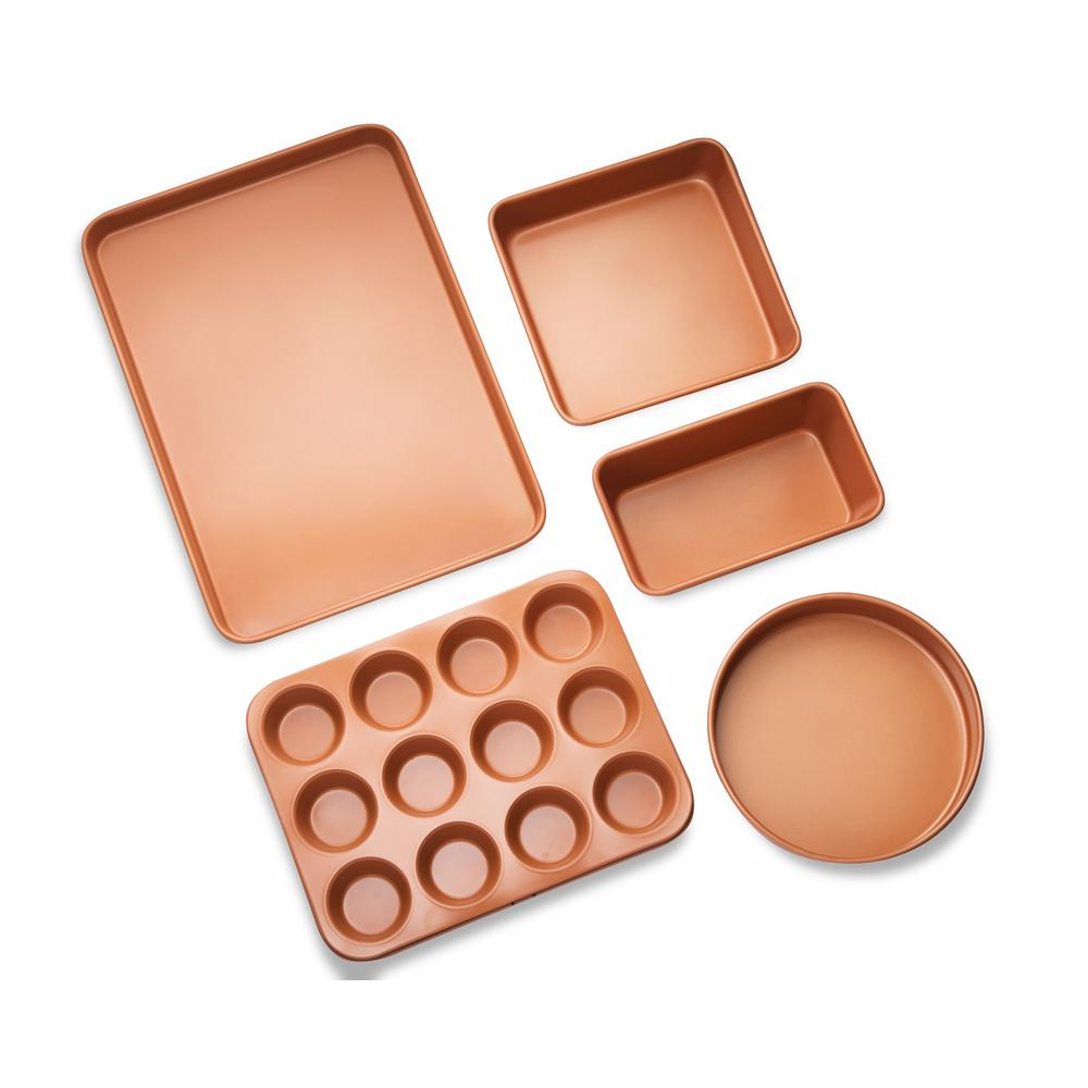5-Piece Copper Non-Stick Ti-Ceramic Ultimate Bakeware Set