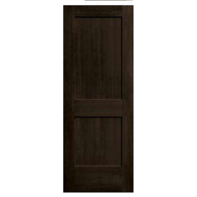 30 in. x 80 in. Monroe Espresso Stain Molded Composite MDF Interior Door Slab