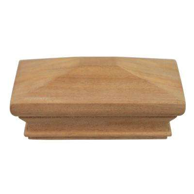 Miterless 6 in. x 6 in. Untreated Wood Pyramid Slip Over Fence Post Cap