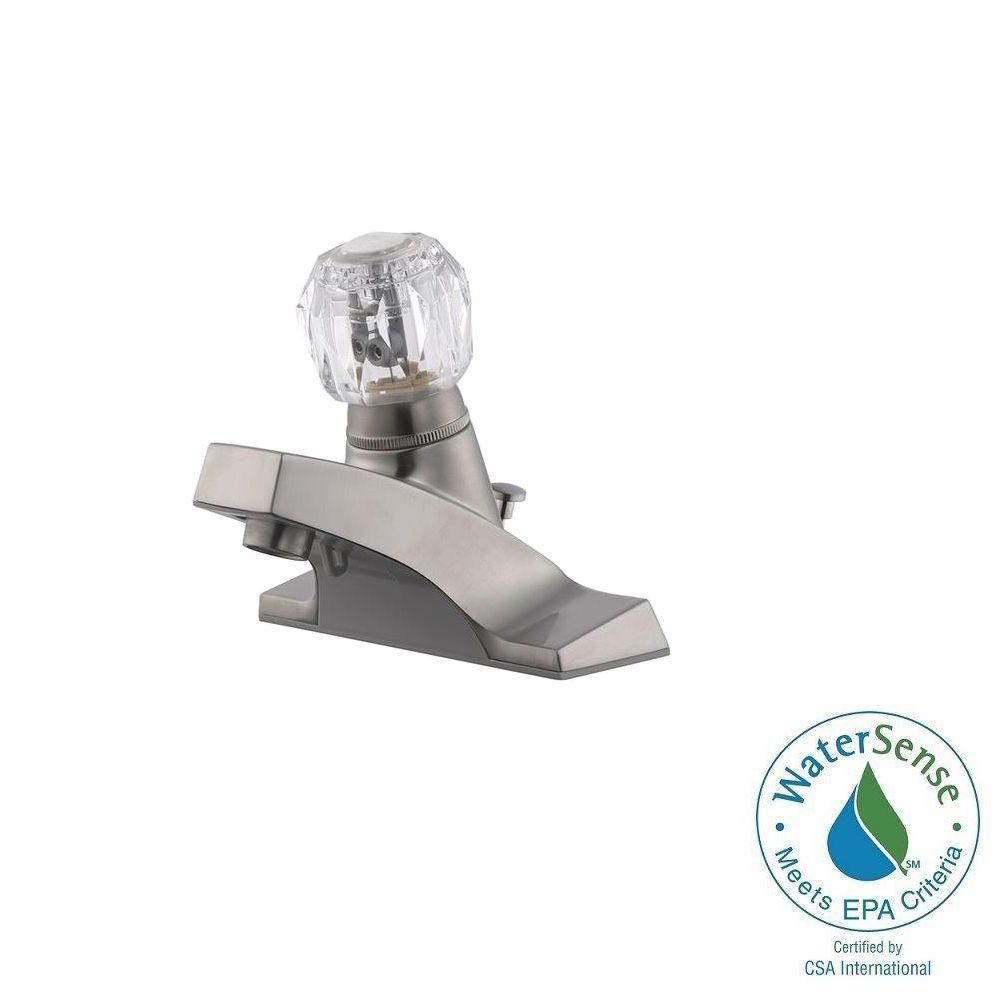 Millbridge 4 in. Centerset 1-Handle Bathroom Faucet in Satin Nickel