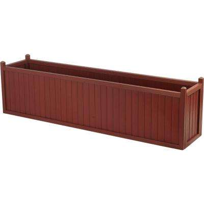 69 in. x 16 in. Mahogany All Weather Composite Planter