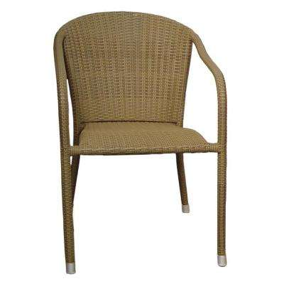 Terrace Mates Coffee Stacking Patio Arm Chair (Set of 2)