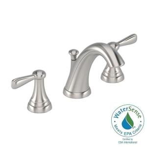 American Standard Marquette 8 inch Widespread 2-Handle Mid-Arc Bathroom Faucet in Brushed Nickel by American Standard