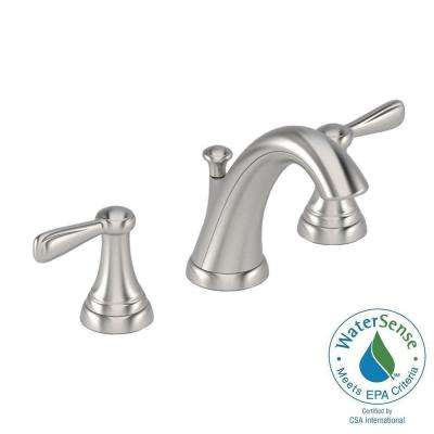 Marquette 8 in. Widespread 2-Handle Mid-Arc Bathroom Faucet in Brushed Nickel