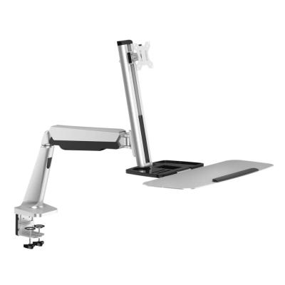 Single Monitor Gas Spring Desk-Mounted Sit-Stand Workstation