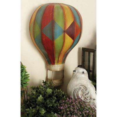 Multicolored Iron Hot Air Balloon Wall Decors (Set of 3)