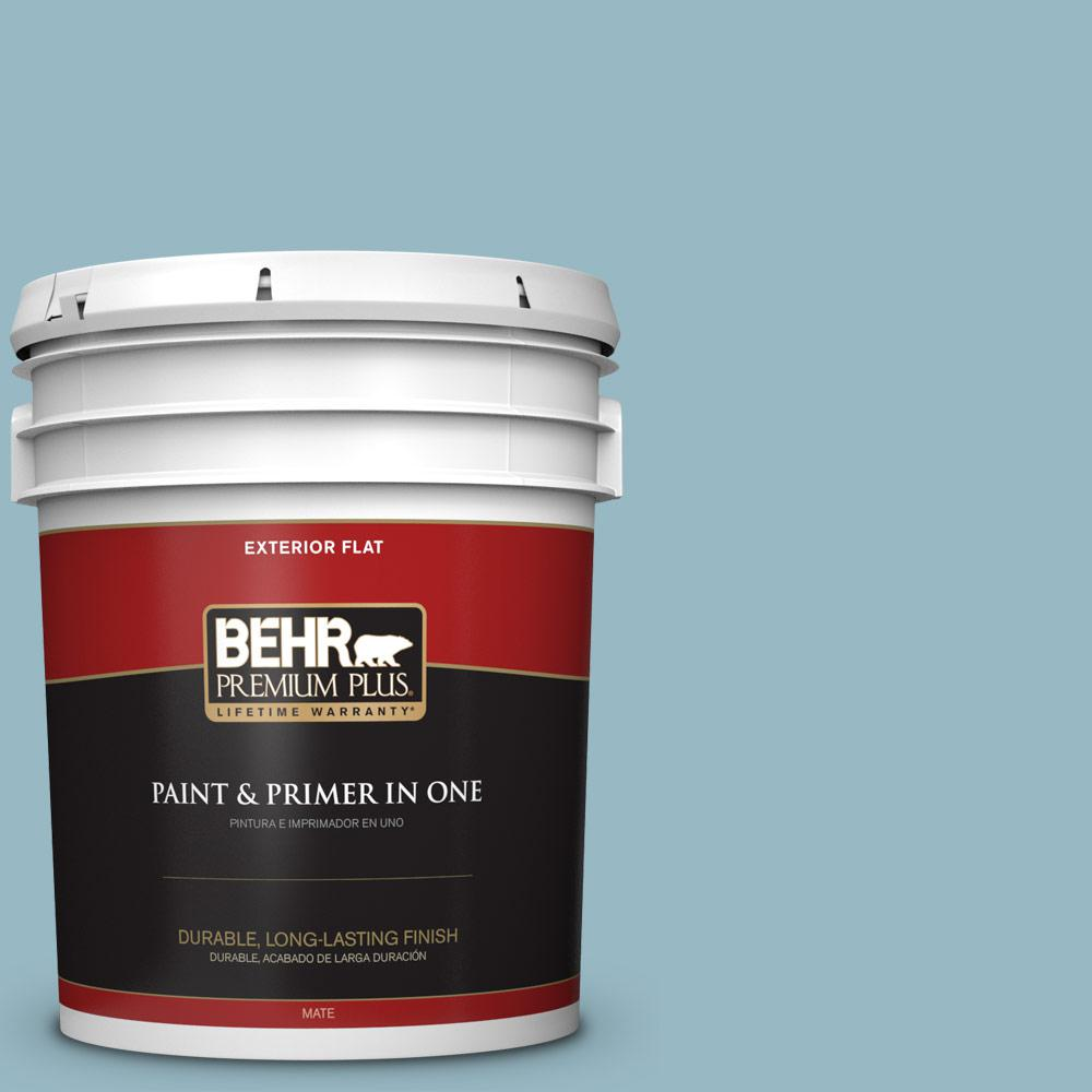 5 gal. #PPU13-09 Tahoe Blue Flat Exterior Paint
