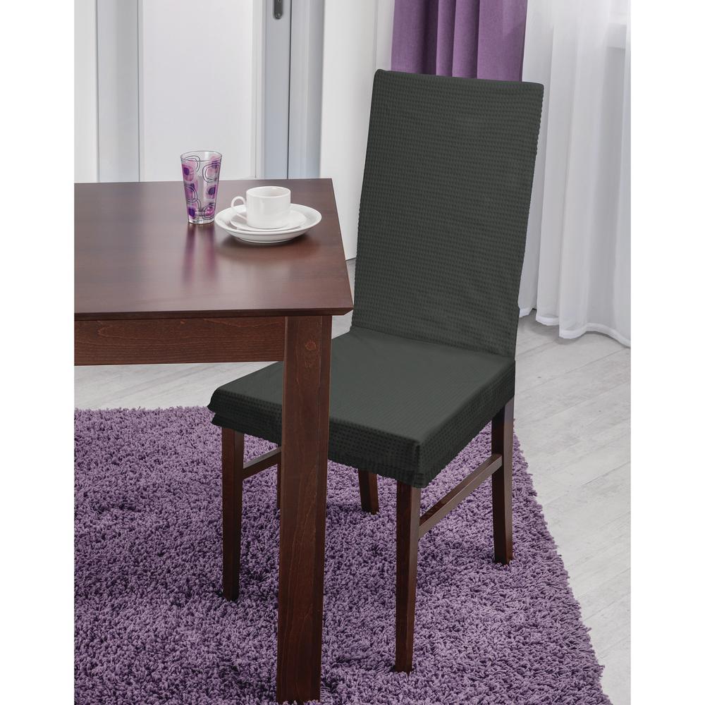 Fantastic 41 73 In X 15 75 In Pixel Grey Stretch Dining Chair Slip Cover Uwap Interior Chair Design Uwaporg