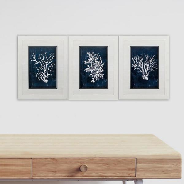 Homeroots Victoria White Gallery Frame Set Of 3 365730 The Home Depot