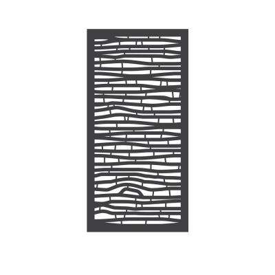 5/16 in. x 24 in. x 48 in. Bungalow Modular Hardwood Composite Decorative Fence Panel